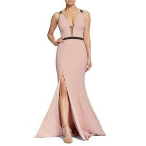 DTP | XS Blush Lana Plunging Strappy Shoulder Gown